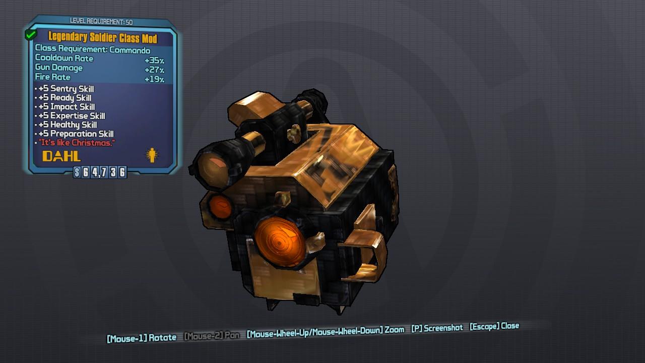 Legendary Soldier Class Mod » Borderlands 2 » MentalMars