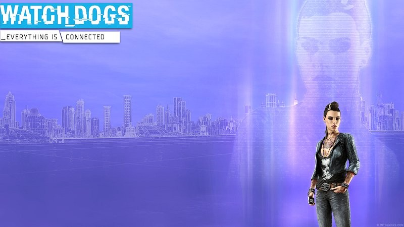 Watch Dogs - Clara Hologram Wallpaper