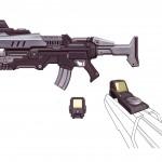 Battleborn Concept Art of Oscar Mike's Rifle