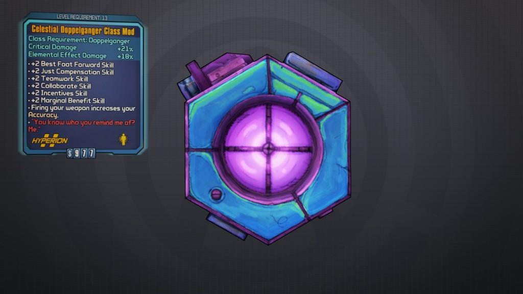 BLTPS Legendary Class Mod - Celestial Doppelganger