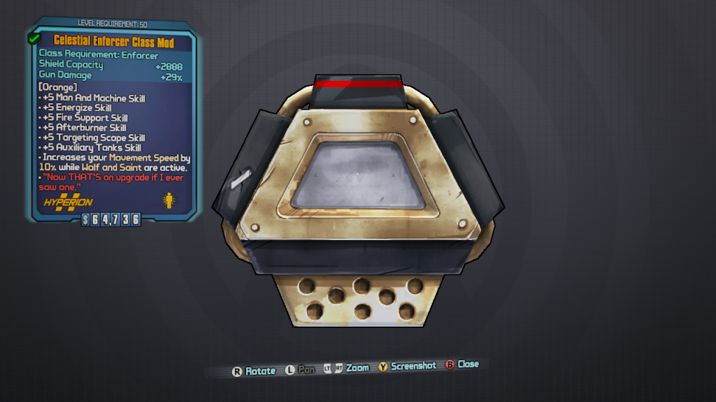 BLTPS Legendary Class Mod - Celestial Enforcer