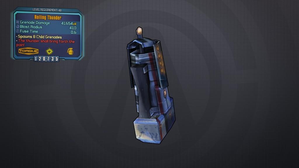 BLTPS Legendary Grenade Mod - Rolling Thunder