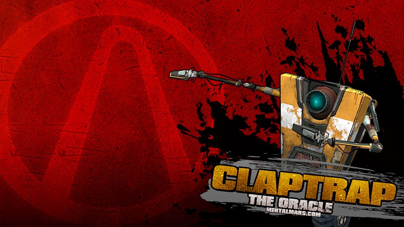 Borderlands Splatter Wallpaper - Claptrap - MentalMars