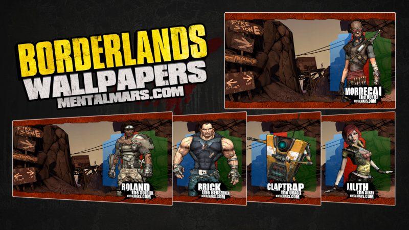 Borderlands Landscape Wallpapers Collage
