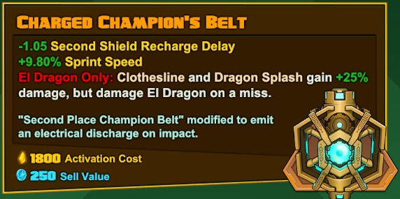El Dragón - Charged Champion's Belt