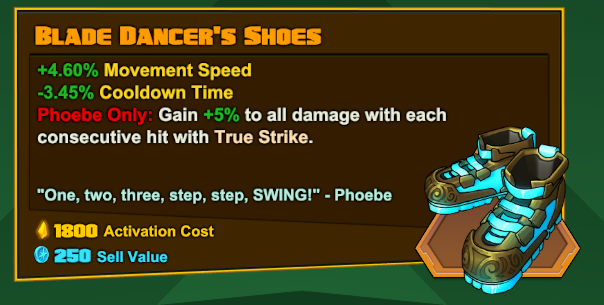 Phoebe Legendary Gear - Blade Dancer's Shoes