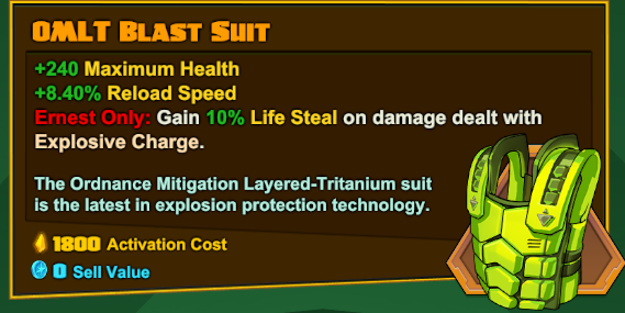 Ernest Legendary - OMLT Blast Suit