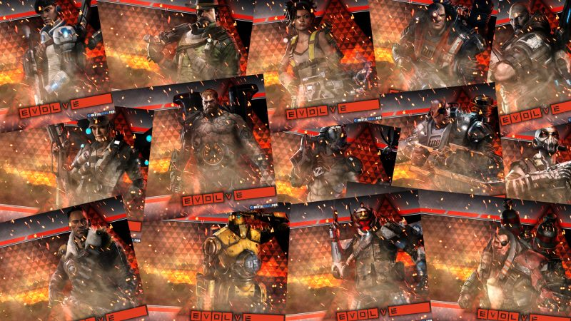 evolve cataclysm wallpaper collage