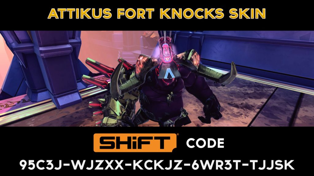 attikus golden skin - shift code - battleborn