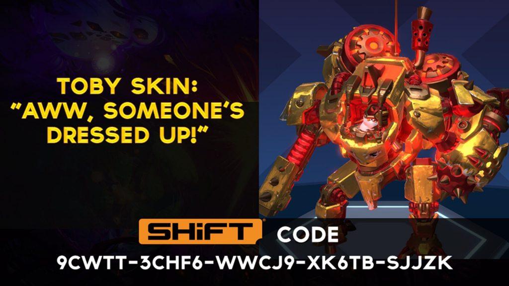 shift code toby gold skin - battleborn