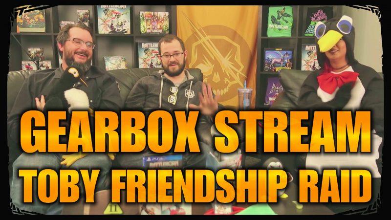 toby's friendship raid reveal stream - battleborn