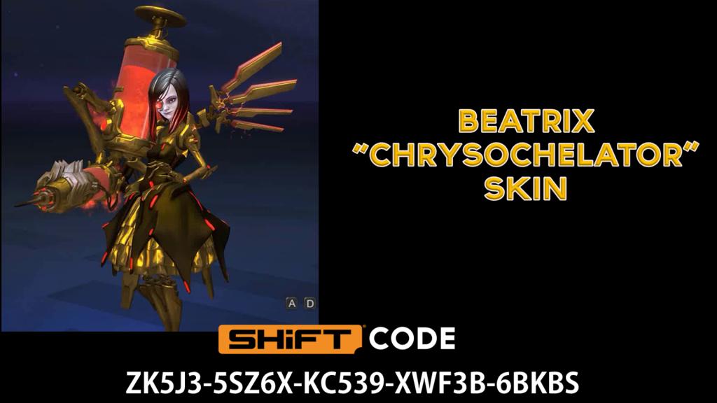 beatrix gold skin - battleborn