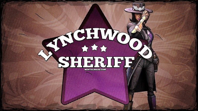 Borderlands 2 Sheriff Badge Wallpaper