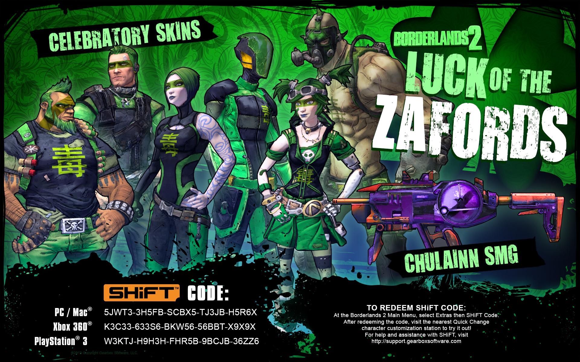 Get Your Borderlands 2 Luck of the Zafords SHiFT Codes! » MentalMars