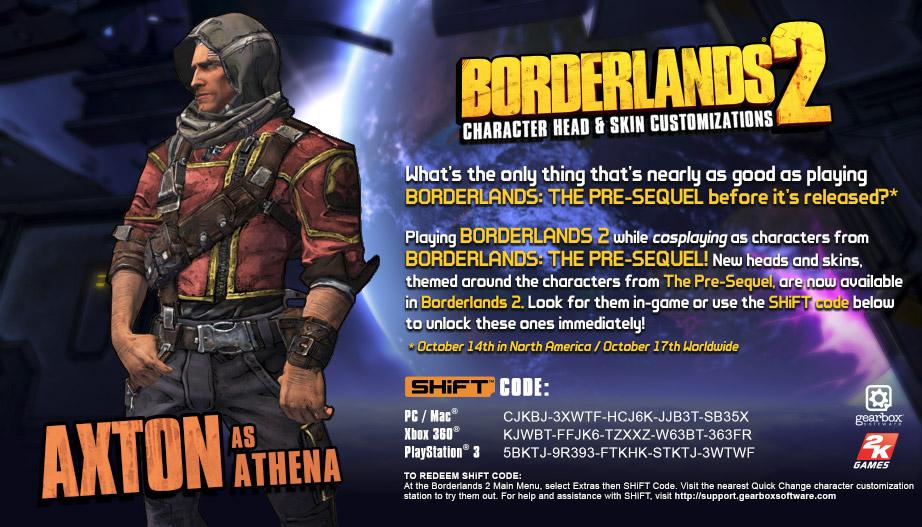 Borderlands 2 SHiFT Codes For Borderlands The Pre-Sequel