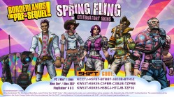 Borderlands the Pre-Sequel SHiFT Codes Spring Fling Skins