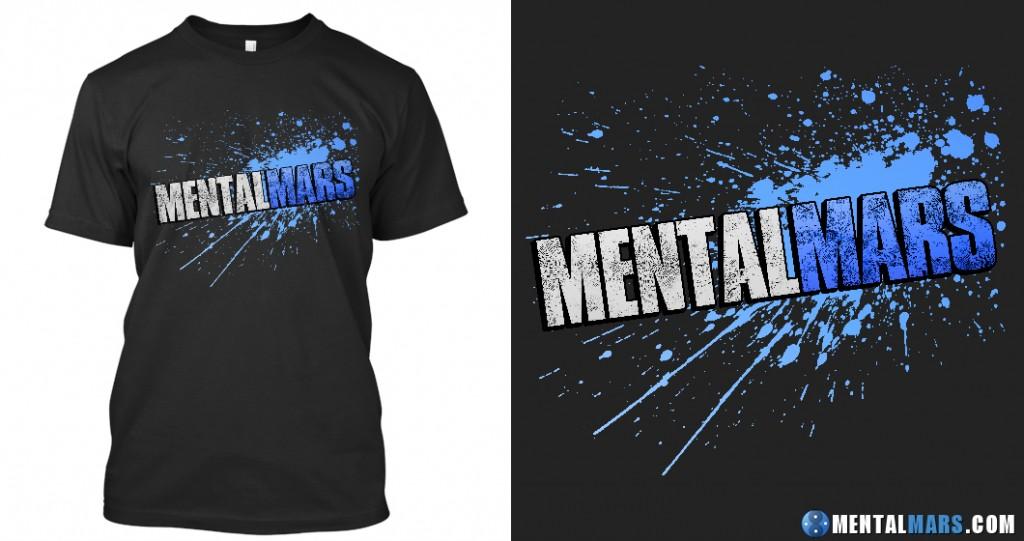 """mentalmars """"splatter"""" shirt"""