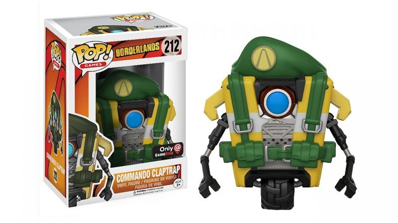 Borderlands Commando Claptrap Funko POP Games Action Figure