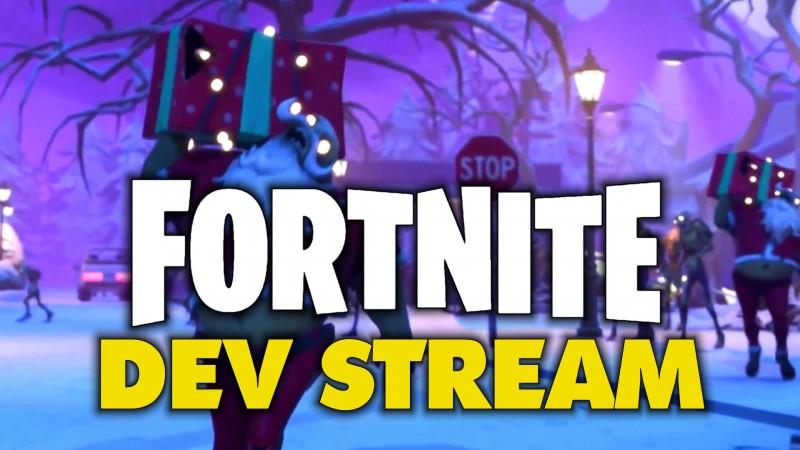 Survive the Holidays Dev Stream – Fortnite