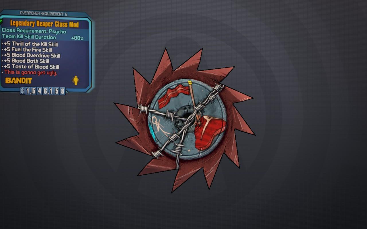 Borderlands 2 legendary class mods stats