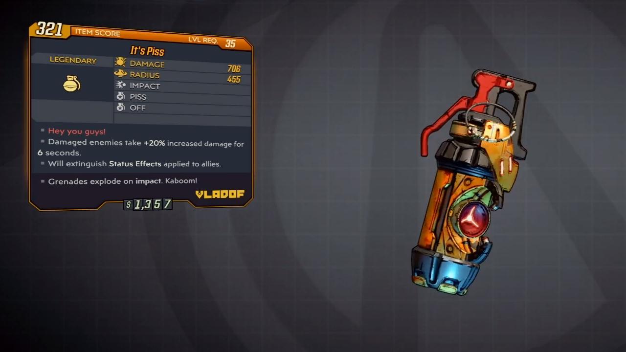 borderlands 3 hex grenade